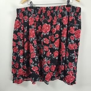 Torrid floral layered A-line skirt size 3